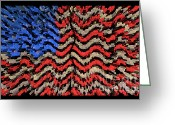 Spangled Greeting Cards - Exploding with Patriotism Greeting Card by John Farnan