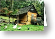Shed Digital Art Greeting Cards - Explore Farm Greeting Card by Mary Timman