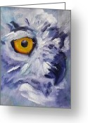 Yellow Beak Painting Greeting Cards - Eye on You Greeting Card by Nancy Merkle