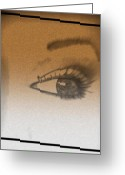 Featured Drawings Greeting Cards - Eye Study Greeting Card by Mark Braxton