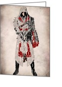 Brotherhood Digital Art Greeting Cards - Ezio - Assassins Creed Brotherhood Greeting Card by Ayse Toyran