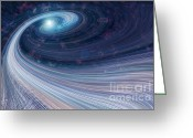 Daysray Photography Greeting Cards - Fabric of Space Greeting Card by Fran Riley