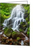 Usa Pyrography Greeting Cards - Fairy Falls Greeting Card by Michael Breitung