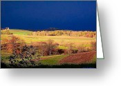 Reese Greeting Cards - Fall Storm Landscape Greeting Card by Joy Reese