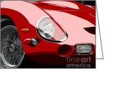 Ferrari Gto Classic Car Greeting Cards - Ferrari 250 GTO Greeting Card by Stephanie Cervi