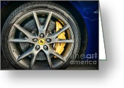 High Wheel Greeting Cards - Ferreri Wheel in Blue Greeting Card by Paul Ward