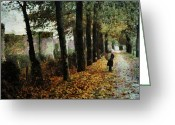 Orange Grey Greeting Cards - First signs of autumn Greeting Card by Gun Legler