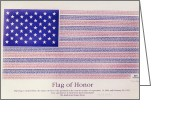 Angela Stanton Greeting Cards - Flag of Honor at 9 11 Greeting Card by Angela A Stanton