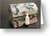 Treasures Greeting Cards - Floral Box Greeting Card by ChelsyLotze International Studio