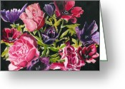 Hyper-realism Greeting Cards - Flower Power Greeting Card by John Simlett