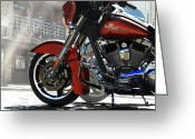 Fort Davidson Greeting Cards - Fort Worth Harley Greeting Card by Mamie Thornbrue