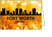 Capital Mixed Media Greeting Cards - Fort Worth TX 3 Greeting Card by Angelina Vick