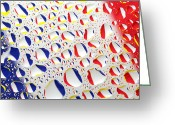 National Flag Greeting Cards - France Flag In Water Drops Greeting Card by Mingqi Ge