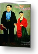 Activists Greeting Cards - Frida Kahlo and Diego Rivera Greeting Card by Pg Reproductions