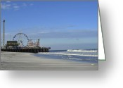 Terry Deluco Greeting Cards - Funtown Pier Greeting Card by Terry DeLuco