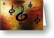 Poster Prints Greeting Cards - G Rhapsody Greeting Card by Carmen Guedez
