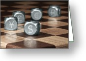 Finance Greeting Cards - Game of Chance Greeting Card by Tom Mc Nemar