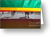 Gay Rights Greeting Cards - Gay Pride Parade Greeting Card by Jim West