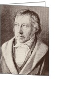 Georg Greeting Cards - Georg Hegel  Greeting Card by Anonymous