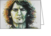 Hall Of Fame Greeting Cards - George Harrison..Beatles Greeting Card by Chrisann Ellis