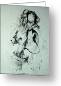 Strong Drawings Greeting Cards - Gesture Study Greeting Card by John Arthur Ligda