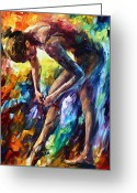 Leonid Afremov Greeting Cards - Getting Ready Greeting Card by Leonid Afremov