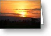 Bill Cannon Photo Greeting Cards - Gettysburg Sunset Greeting Card by Bill Cannon