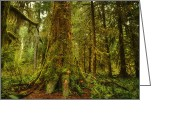 Dark Moss Green Photo Greeting Cards - Giants Foot Greeting Card by Stuart Deacon