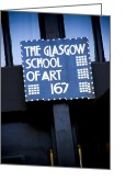 Rennie Greeting Cards - Glasgow School of Art Greeting Card by Alan Oliver