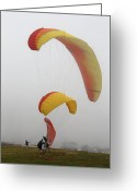 Beach Photograph Photo Greeting Cards - Glider Point In Mist Greeting Card by Viktor Savchenko