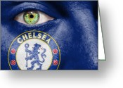 Club Greeting Cards - Go Chelsea FC Greeting Card by Semmick Photo