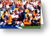 Running Back Greeting Cards - Goal Line Stand Greeting Card by Ron Regalado
