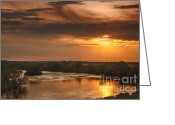 River Flooding Greeting Cards - Golden Payette River Greeting Card by Robert Bales