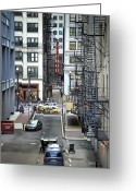 Alley Greeting Cards - Goodman Chicago Greeting Card by Scott Norris