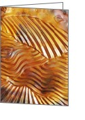 Featured Reliefs Greeting Cards - Grainwaves Greeting Card by Sharon Orella