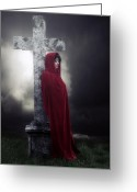 Graveyard Greeting Cards - Graveyard Greeting Card by Joana Kruse