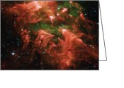 Nebula Greeting Cards - Great Nebula in Carina Greeting Card by Ayse Toyran