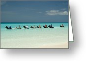 Cruise Ship Greeting Cards - Half Moon Cay Bahamas beach scene Greeting Card by David Smith