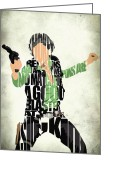Star Wars Greeting Cards - Han Solo from Star Wars Greeting Card by Ayse Toyran