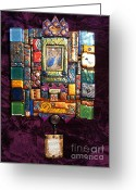 Interior Tapestries - Textiles Greeting Cards - Hanging IDEA Greeting Card by Qasir Z Khan
