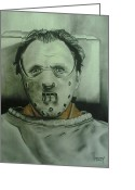 Featured Drawings Greeting Cards - Hannibal Greeting Card by Ronnie Cantoro
