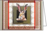 Hare Mixed Media Greeting Cards - Hare Speaks Greeting Card by Laura Joseph