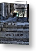 Street Art Greeting Cards - Have a Dream Greeting Card by Karim SAARI