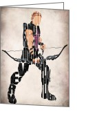 Wall Art Drawings Greeting Cards - Hawkeye Greeting Card by Ayse Toyran
