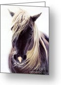 Equine Mixed Media Greeting Cards - Heart Of A Horse Greeting Card by Zeana Romanovna