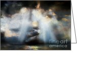 Business Decor Greeting Cards - Heart Of The Storm - Abstract Realism Greeting Card by Zeana Romanovna