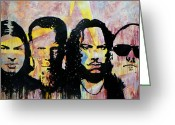 Metallica Painting Greeting Cards - Heroes of the Day Greeting Card by Chad Rice