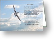 Raf Digital Art Greeting Cards - High Flight Greeting Card by Pat Speirs