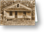 Abandoned Houses Digital Art Greeting Cards - Home No More Greeting Card by Victor Montgomery