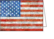 United States Flag Greeting Cards - Homeland Greeting Card by Michelle Calkins